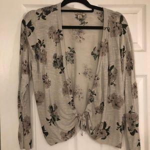 Lucky Brand Plus Size Tie Front Cardigan, Size 1X